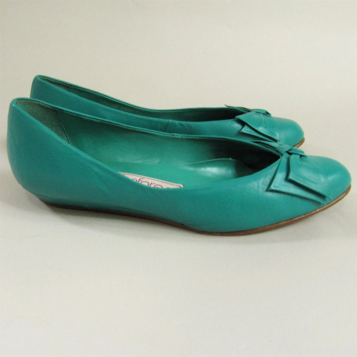 Emerald Green Ballerina Wedges