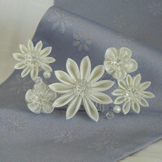 Kiru Rise-Japanese Hair Ornament-Bridal Tiara(Tsumami Kanzashi)