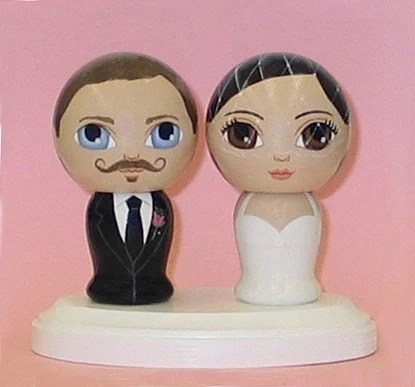 Custom Wedding Cake Toppers with Pedestal