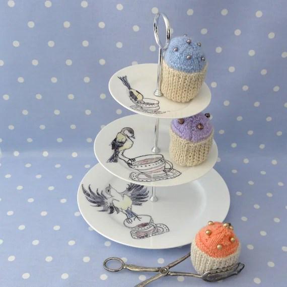 Handmade Bird Cake Stand