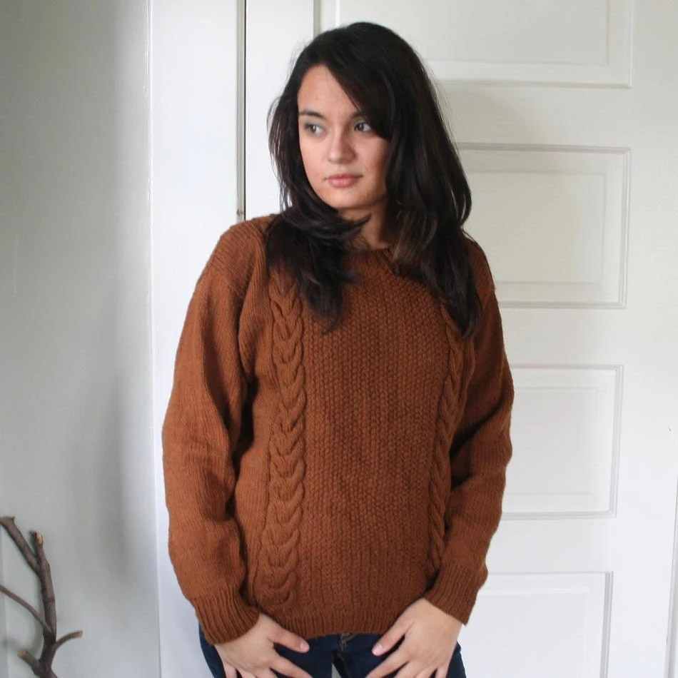 Vintage Brown Knit Sweater