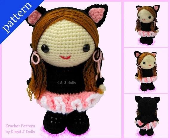 Bella in Ballerina Catsuit - PDF Amigurumi crochet pattern