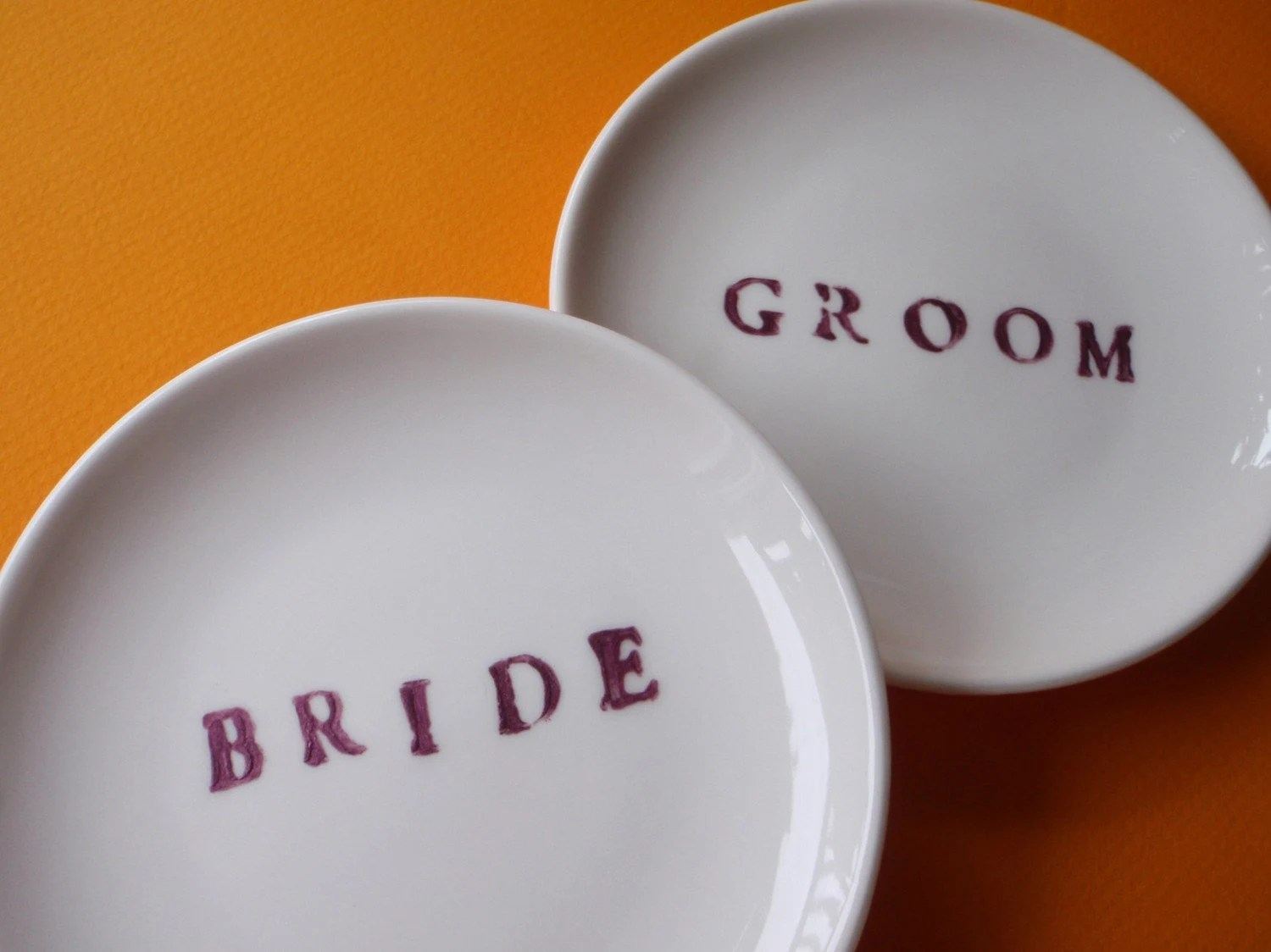 Hand Painted Placecard Dishes for Your Unique Wedding