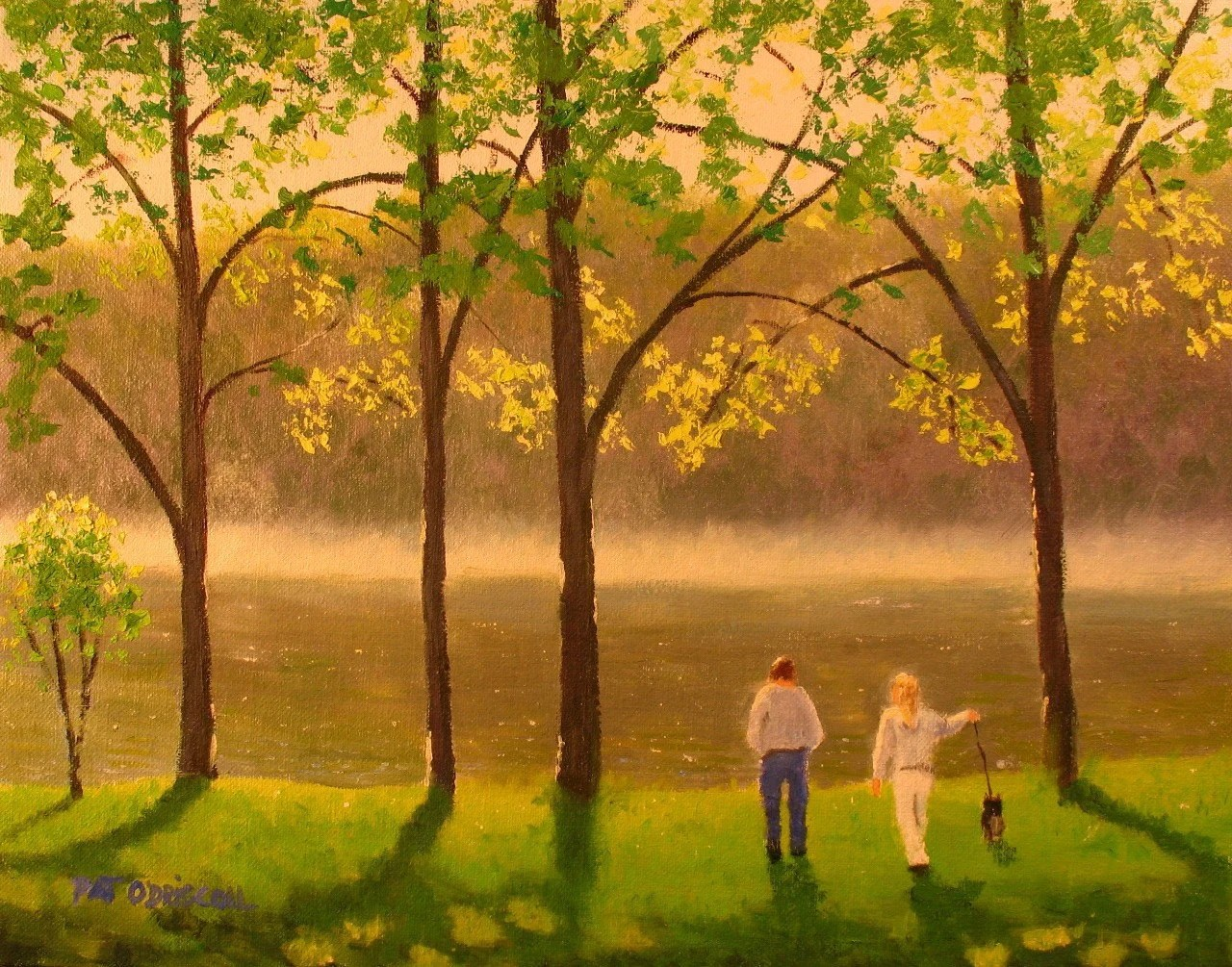 Spring Morning  11x14 original oil painting
