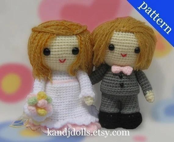 Wedding Bride and Groom - Amigurumi - 2 PDF Crochet Patterns