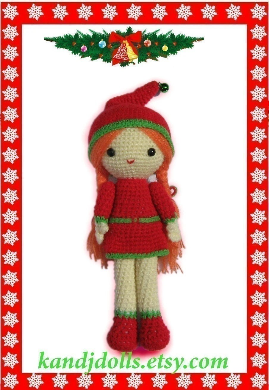 Christmas Girl - PDF Amigurumi Crochet Pattern