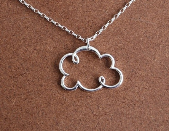 Sterling silver cloud pendant and 18 inch sterling silver chain