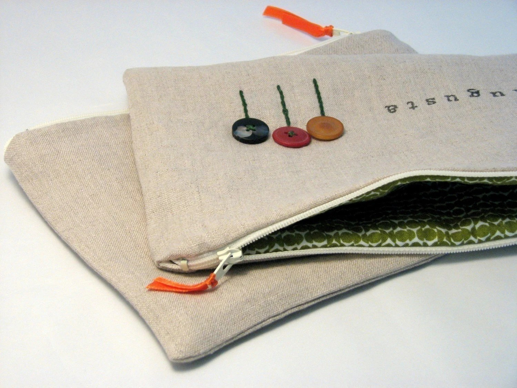 Personalized Makeup Bag, Zipper Case, Cosmetics Carryall