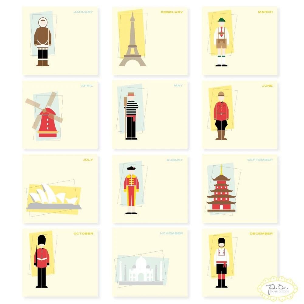 2011 Around the World Calendar