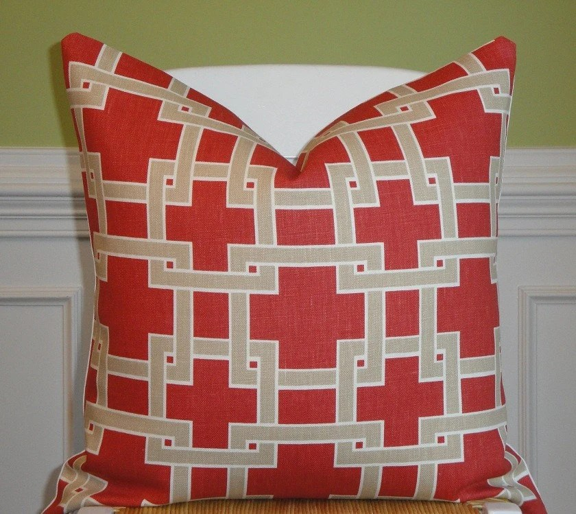 Beautiful Decorative Pillow Cover - 20 x 20 Inch - Designer Fabric - Throw Pillow - Accent Pillow - Wildrose
