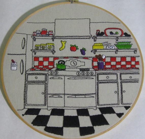Fun Retro Kitchen Embroidery