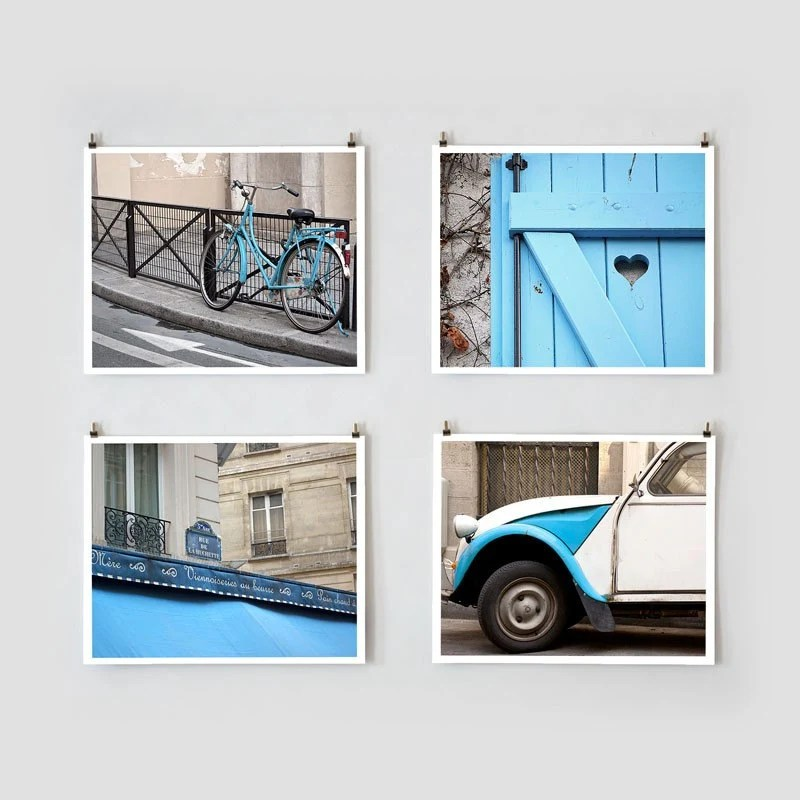 Paris Photo Collection - 8x10 Blue