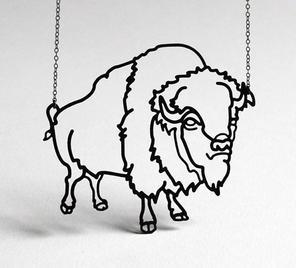 Bison Necklace from MegJRoberts