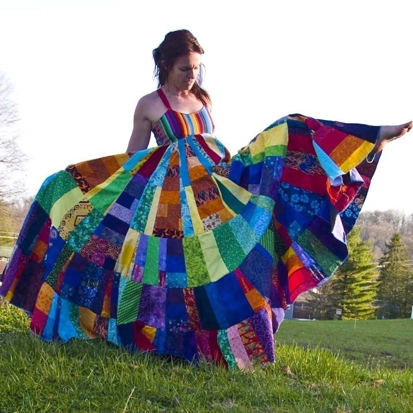 Custom String Theory Rainbow Festival Apron Dress Free Shipping in US