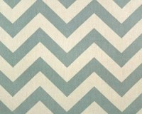 Decorative Designer Fabric-Blue and Natural Chevron Zig Zag-1/2 yard