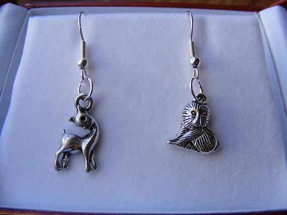 Lion & the Lamb Silver Earrings