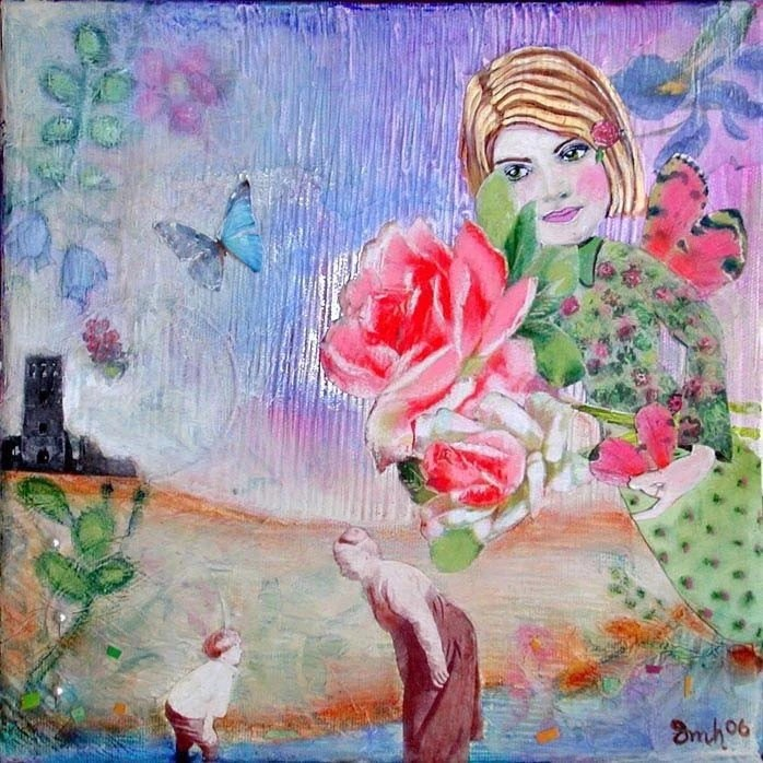ON SALE NOW - They Whisper Their Secrets To The Wind ORIGINAL Mixed Media Collage Painting