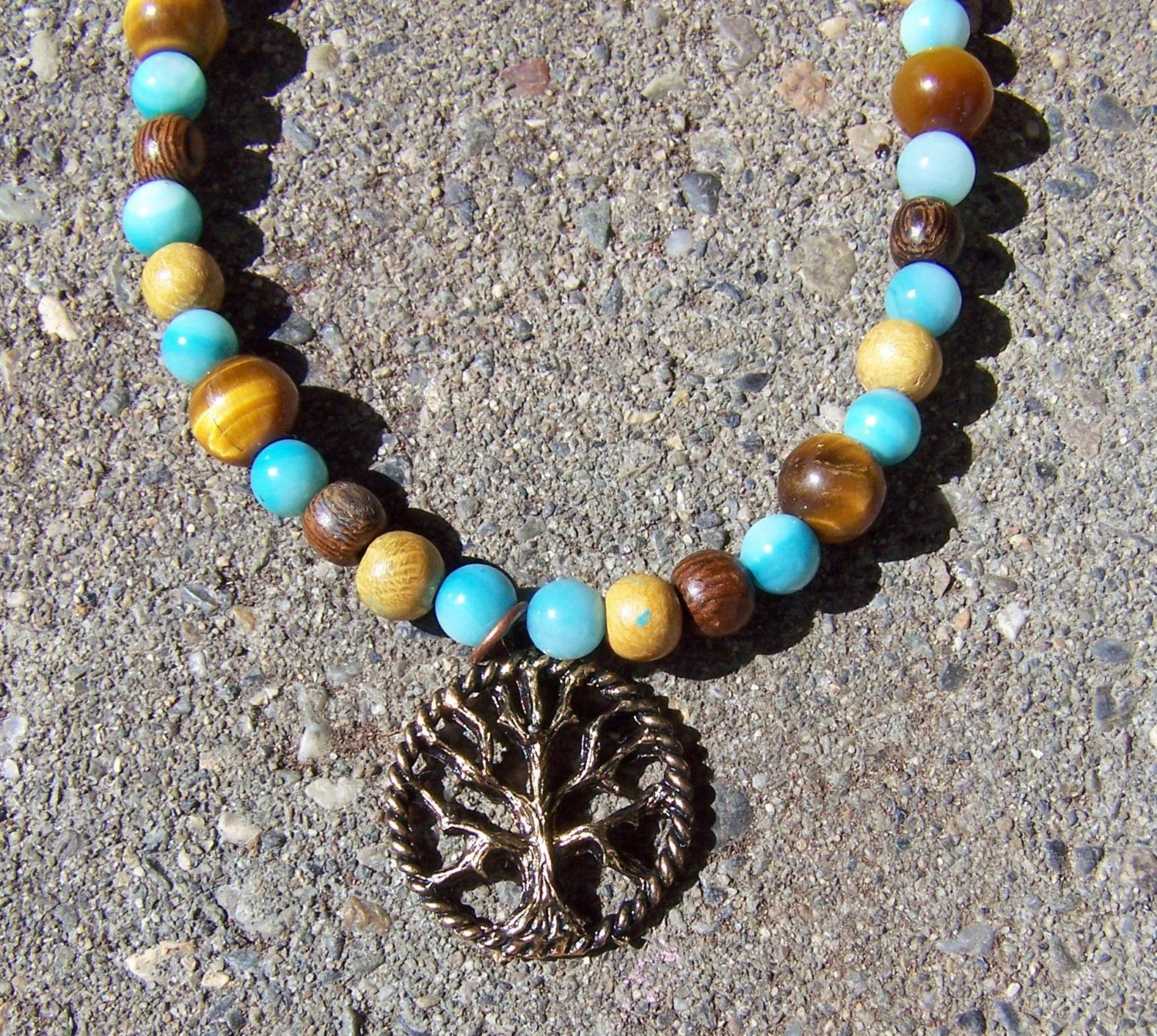 Earth tree necklace