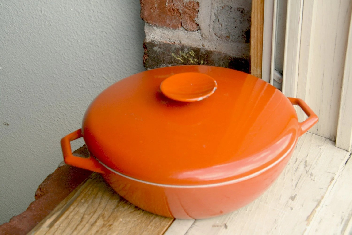 Heavy Copco Michael Lax Design Denmark Casserole Pot - Burnt Orange