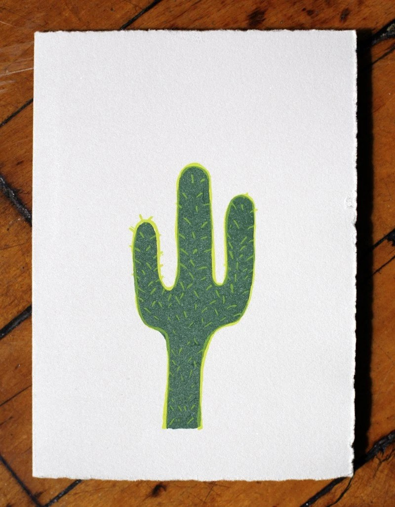 Cactus blank greeting card