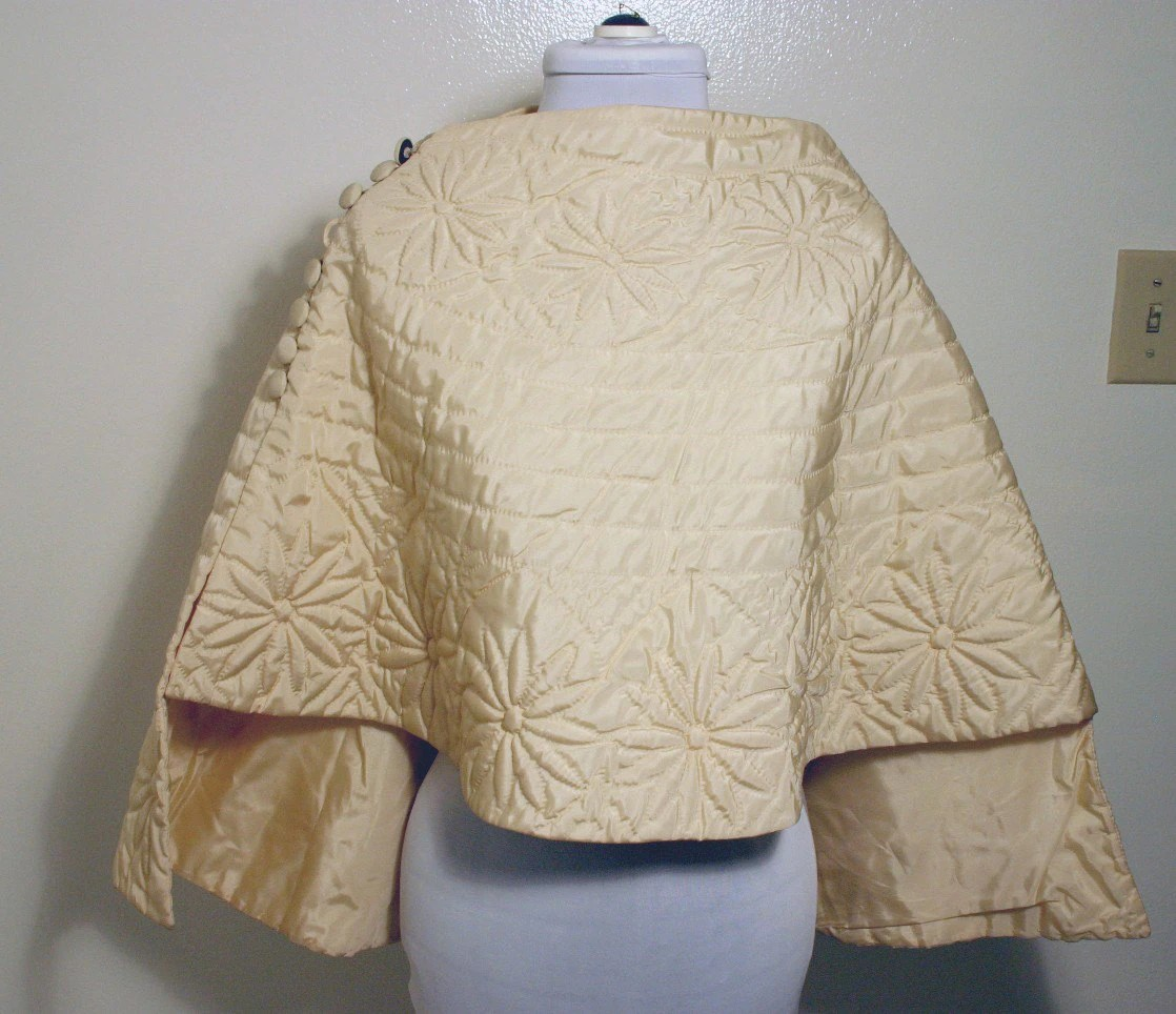 1940's Quilted Bed Jacket by O'neil's