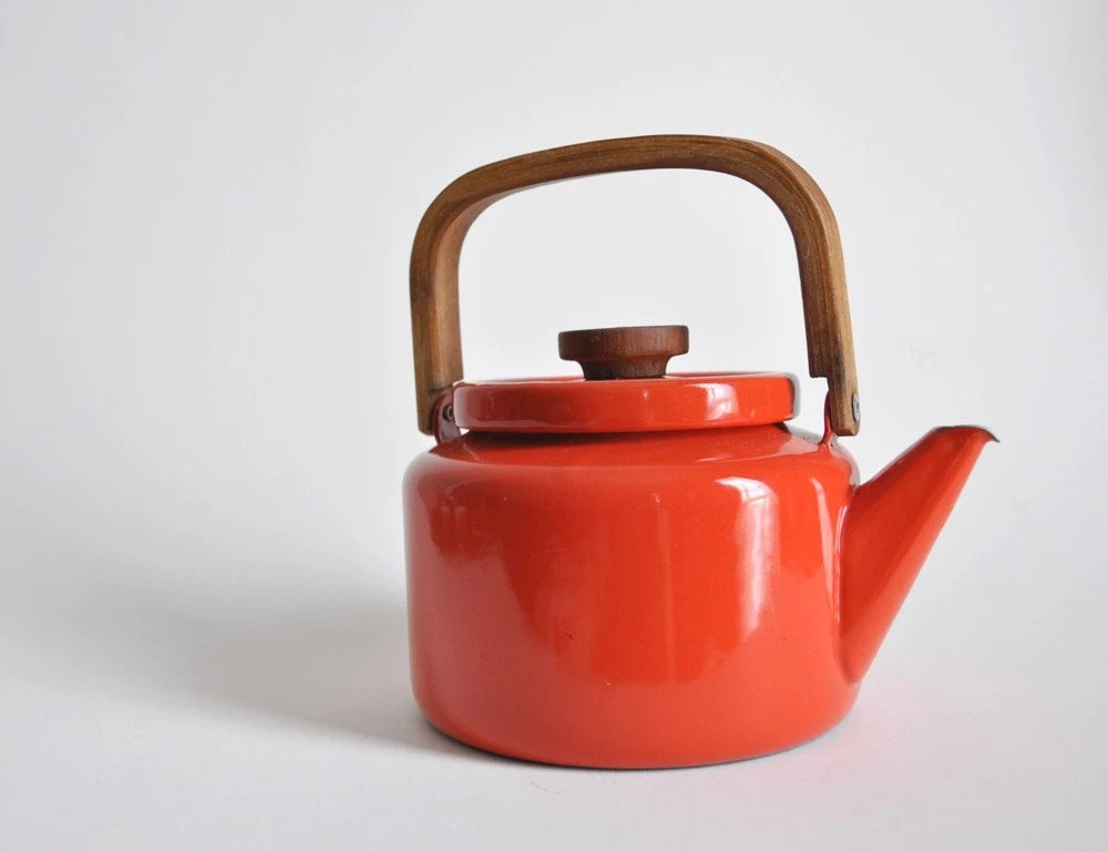 retro enamel tea kettle