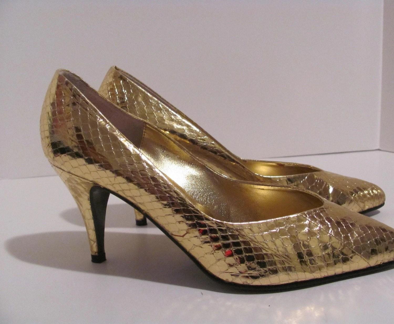 Gold Disco Heels