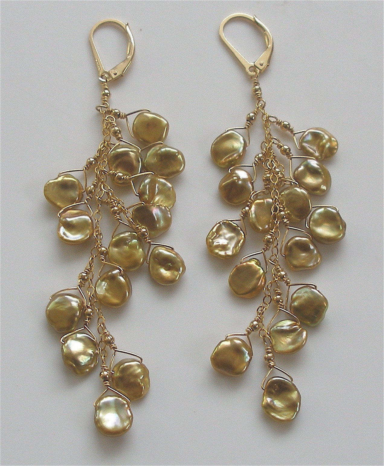 Cascade Grande Gold Earrings