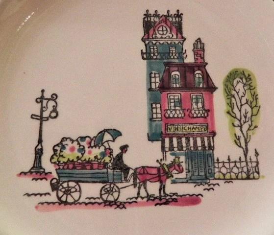 Mid Century Dinnerware Metlox Street Scene