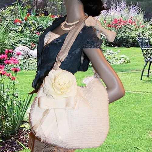 Flower and Lace Jodi Hobo Bag