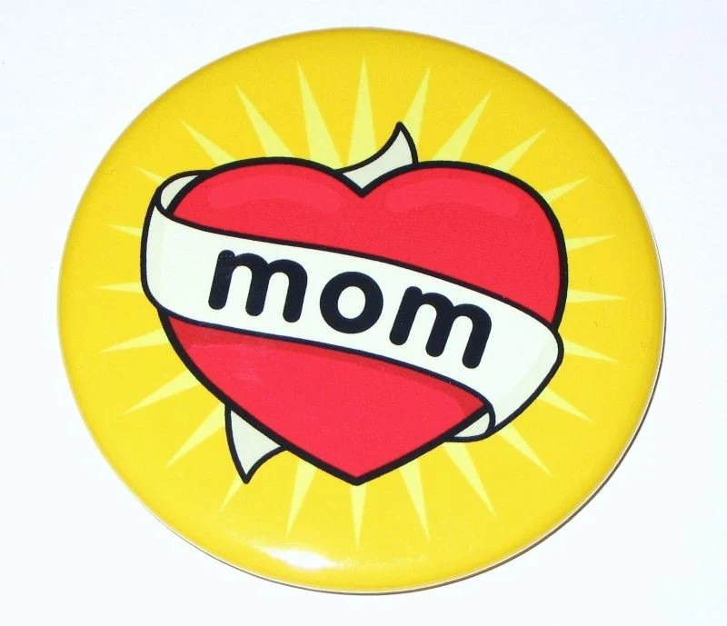 Mom Heart Tattoo Magnet (2.25 inch)