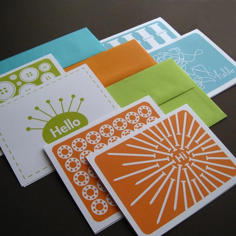 Folded Sewing Notecards