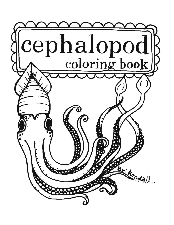 Cephalopod Coloring Book via Etsy