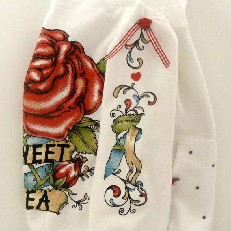 Rose Vintage Tattoo Hoodie Jacket