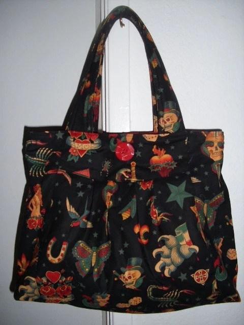 Black Tattoo Purse I made this purse