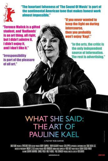 What She Said: The Art of Pauline Kael