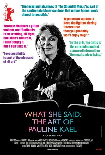 What She Said: The Art of Pauline Kael