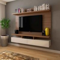 31 Wall TV Placement Ideas By Using Pallets Material Exposed 75