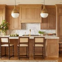 36 + The Natural Wood Kitchen Cabinets Farmhouse Trap