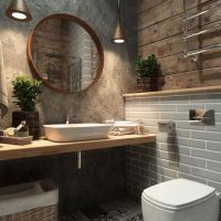 39+ Rustic Industrial Bathroom Ideas 42