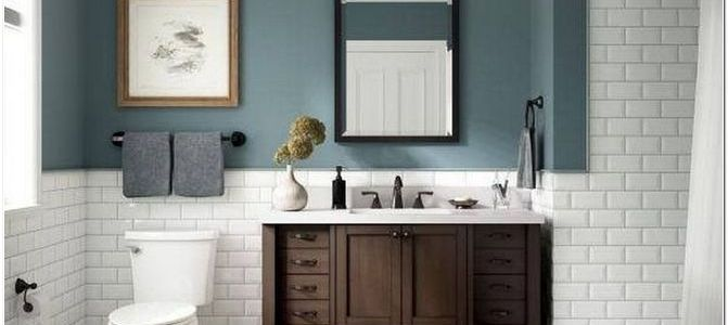 32 Charming Bathroom Remodeling Decor Ideas With Blue Colors