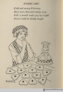 Bettina in the 1917 novel/household guide A Thousand Ways to Please a Husband is the ultimate housewife, here shown matching her outfit to her baked goods.