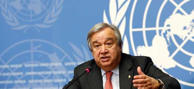 Antonio Guterres, United Nations High Commissioner for Refugees (UNHCR) addresses a news conference at the United Nations in Geneva, Switzerland December 18, 2015. REUTERS/Denis Balibouse