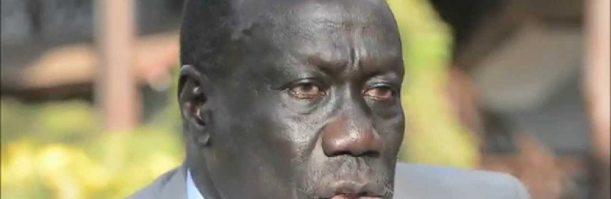 Lt. Gen. Alfred Lado Gore, the Former Minister of Interior and former Deputy Chairman of SPLM/A-IO(Photo: file)