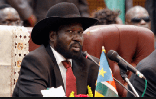 South Sudan President, Salva Kiir, showing his skeptical face during peace talks in Addis Ababa. That agreement has now collapsed and the leaders continue to impose themselves amid an intense conflict that is now in its 4 years(Photo: file)