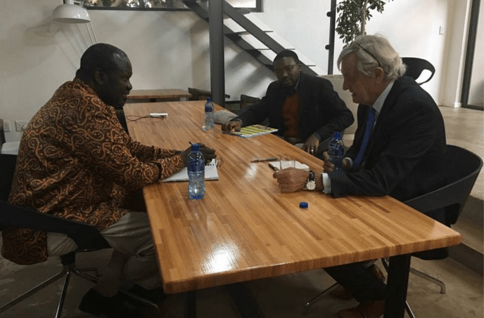 Dr. Riek Machar Teny Dhurgon meets Mr. Nicholas Haysom, the Special Envoy of the UN SECRETARY GENERAL to Sudan and South Sudan on 9 March 2017(Photo: Machar's profiles)