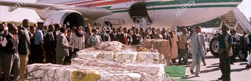 Coffins with bodies of ill fated Kenyans rest at the airport in Nairobi(Photo: GMM/ME)