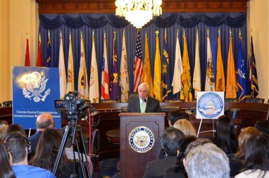 Frank Wolf, co-chair of the Tom Lantos Human Rights Commission, giving a presentation(Photo: file)