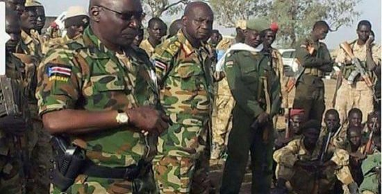 Gen. Malong Awan, the former COGS, in Yirol after he escaped Juba (Photo/extracted)