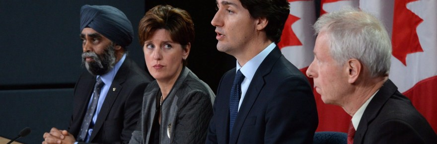 Marie-Claude Bibeau, Minister of International Development and La Francophoni watch Prime Minister talks(Photo: file)